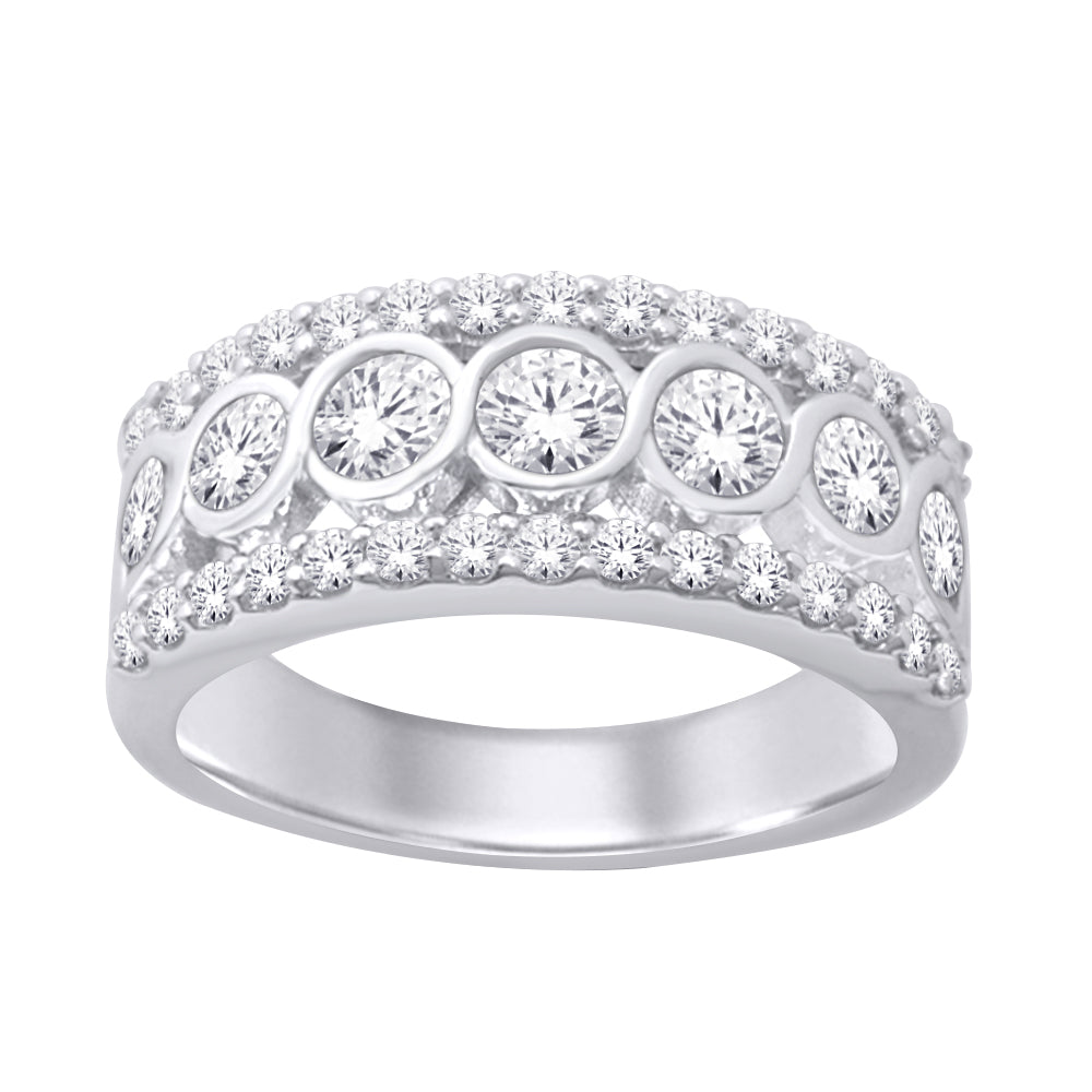 14K White Gold 1 1/2 Ct.Tw. Diamond Band