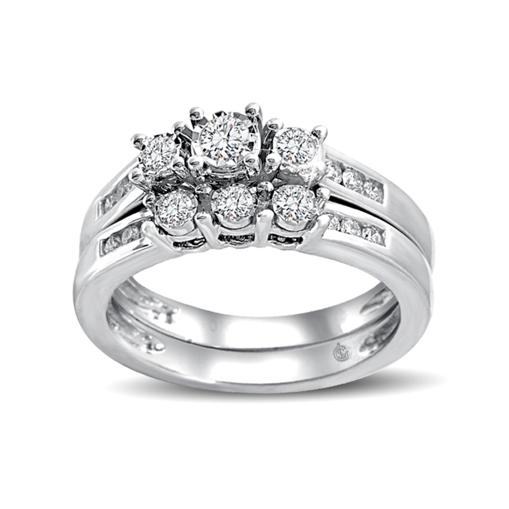 10K White Gold 1/2 Ct.Tw.Diamond Fashion Bridal
