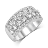 14K White Gold 2 1/2 Ct.Tw. Diamond Fashion Band