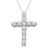 14K White Gold 3/4 Ct.Tw.Diamond Fashion Pendant