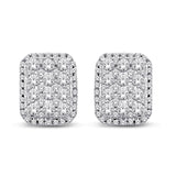 14K White Gold 1 Ct.Tw.Diamond Fashion Earrings