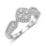 14K White Gold 9/10 Ct.Tw. Diamond Fashion Ring
