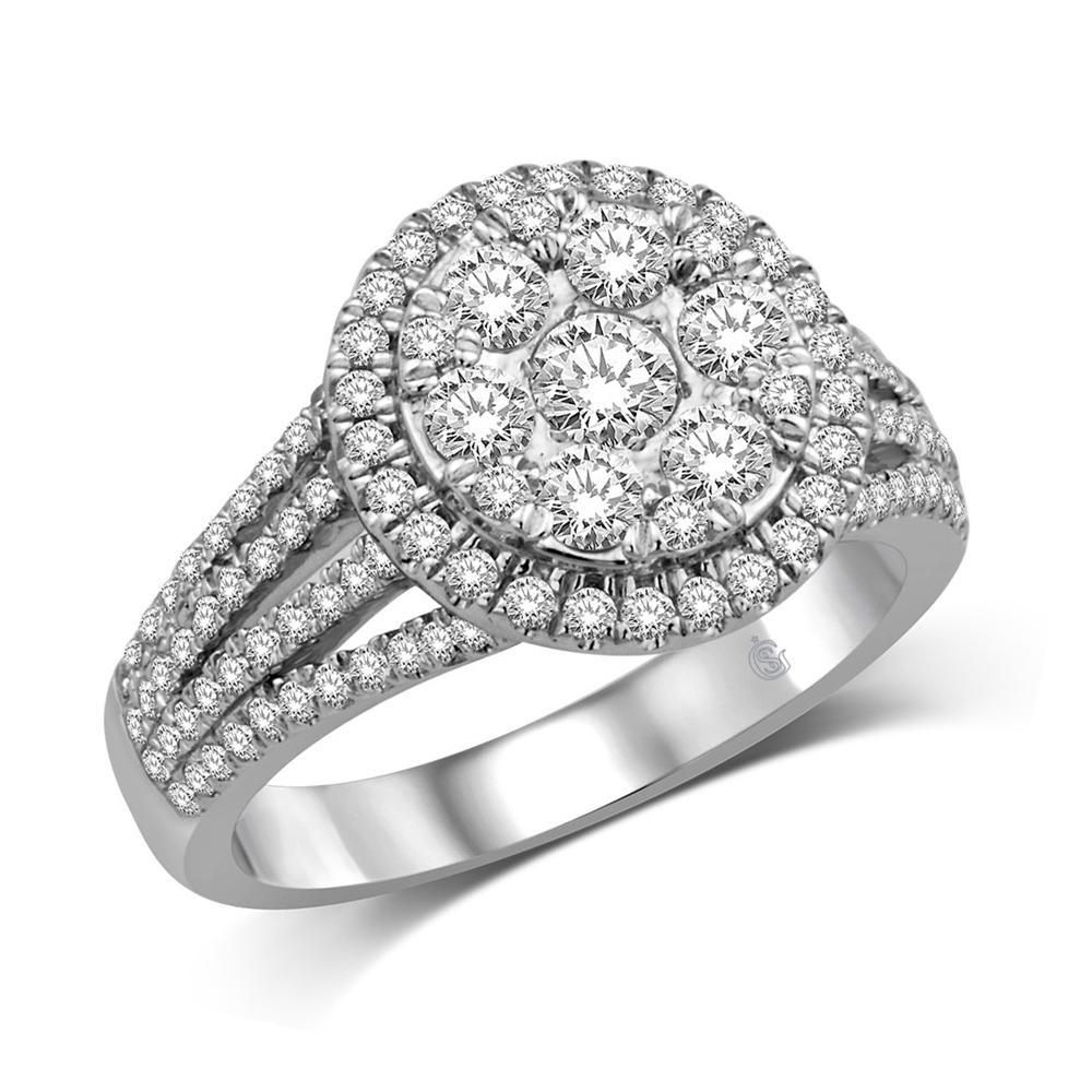 14K White Gold 1 1/4 Ct.Tw.Diamond Fashion Ring