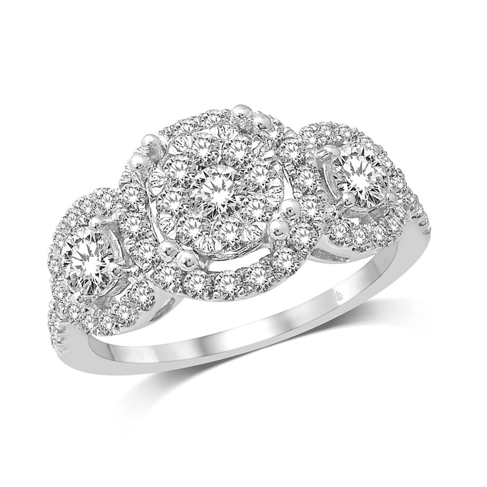 14K White Gold 1 1/3 Ct.Tw. Diamond Engagement Ring