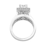 14K White Gold 7/8 Ct.Tw. Diamond Engagement Ring