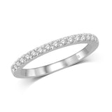 14K White Gold 1/5 Ct.Tw.Diamond Wedding Band