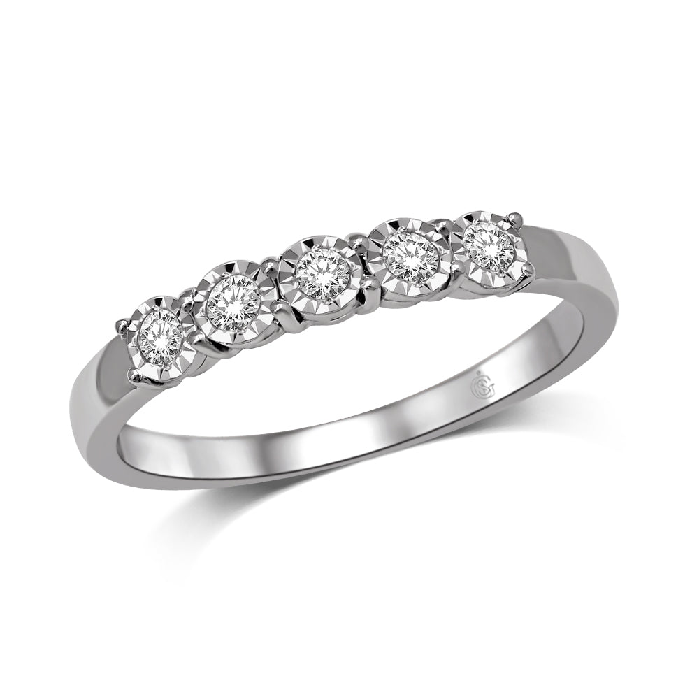 10K White Gold 1/3 Ct.Tw.Diamond Ladies Band