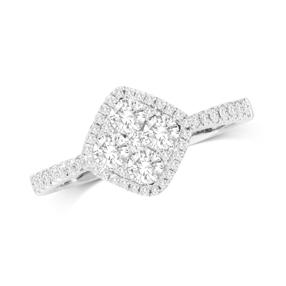 14K White Gold 5/8 Ct.Tw.Diamond Fashion Ring