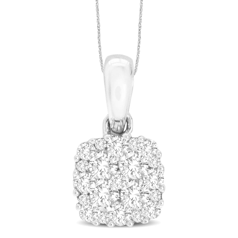 14K White Gold 1/2 Ct.Tw.Diamond Fashion Pendant