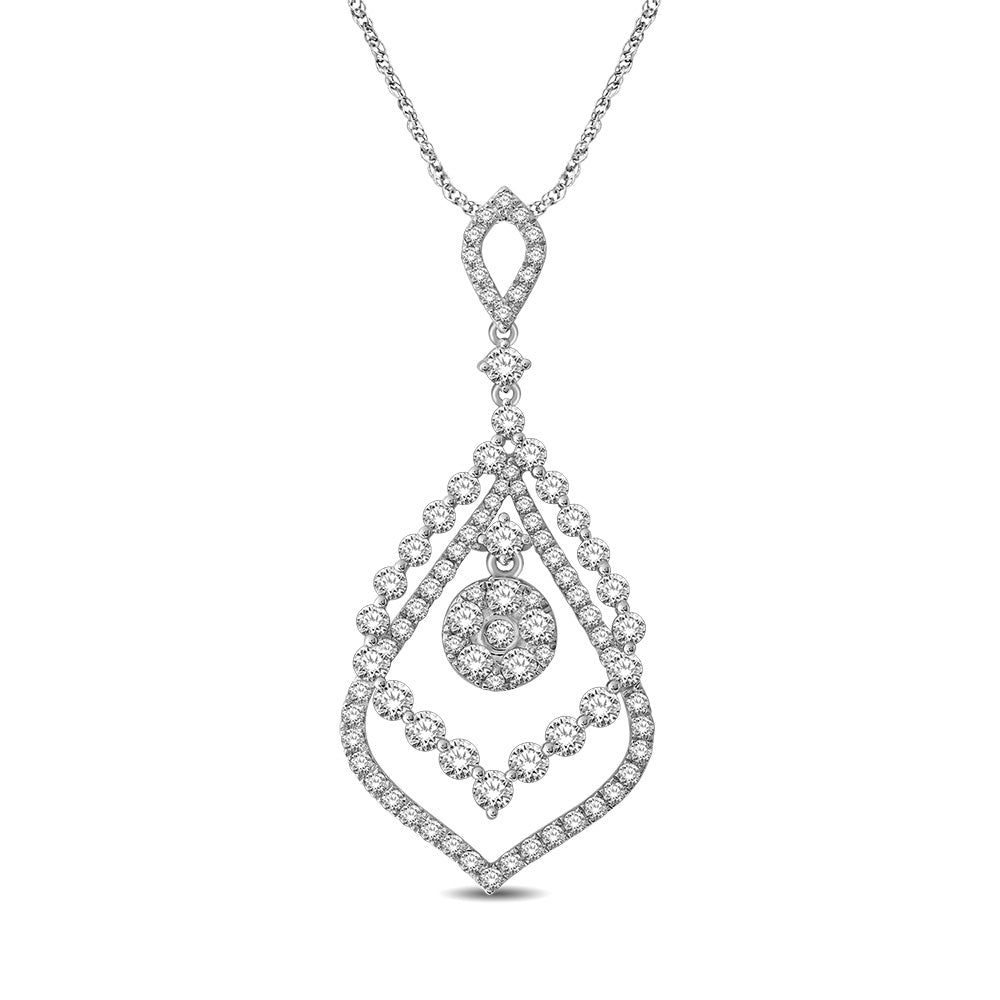 14K White Gold 1 3/4 Ct.Tw Diamond Fashion Pendant