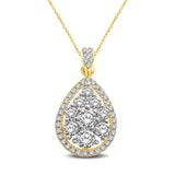 14K Yellow Gold 9/10 Ct.Tw Diamond Fashion Pendant