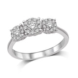 14K White Gold 1/2 Ct.Tw.Diamond Fashion Ring