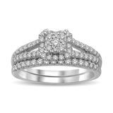 14K White Gold 7/8 Ct.Tw. Diamond Bridal Ring