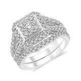 14K White Gold 1 1/6 Ct.Tw. Diamond Bridal Ring