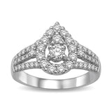 14K White Gold 1 1/6 Ct.Tw. Diamond Fashion Ring