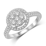 14K White Gold 9/10 Ct.Tw. Diamond Engagement Ring