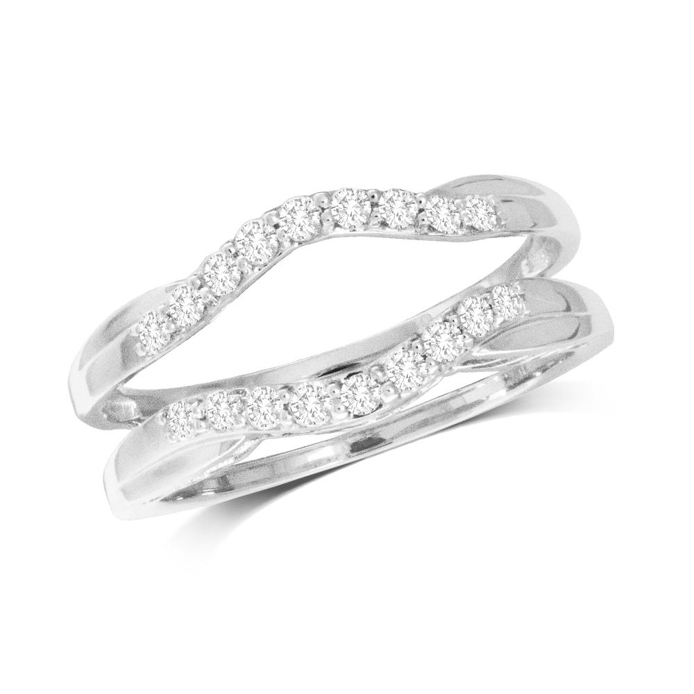 10K White Gold 1/4 Ct.Tw.Diamond Guard Ring