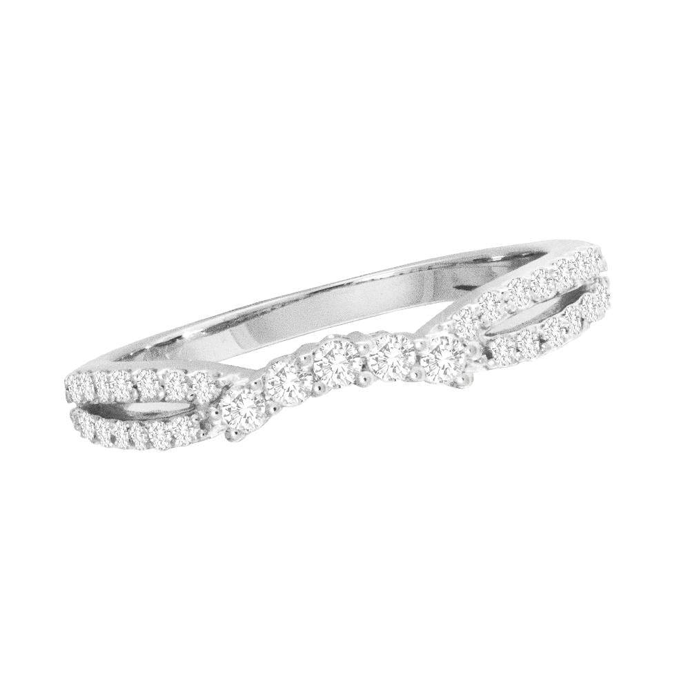 14K White Gold 1/3 Ct.Tw.Diamond Band