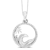 14K White Gold 1/10 Ct.Tw.Diamond Fashion Pendant