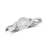 10K White Gold 1/5 Ct.Tw.Diamond Promise Ring