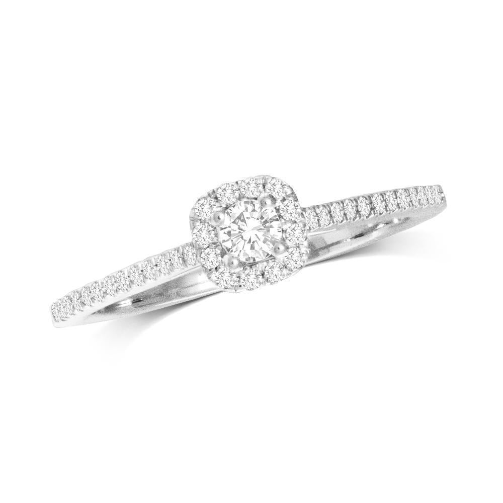 10K White Gold 1/4 Ct.Tw.Diamond  Promise Ring