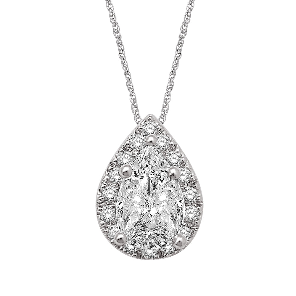 Lovecuts 14K White Gold 1/3 Ct.Tw.Diamond Fashion Pendant