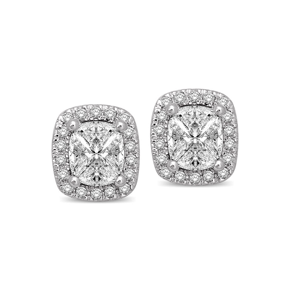 Lovecuts 14K White Gold 5/8 Ct.Tw.Diamond Fashion Earrings