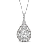 Lovecuts 14K White Gold 2/5 Ct.Tw.Diamond Fashion Pendant