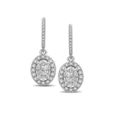 Lovecuts 14K White Gold 7/10 Ct.Tw.Diamond Fashion Earrings