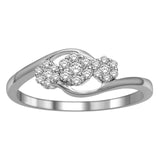 10K White Gold 1/5 Ct.Tw.Diamond Fashion Ring