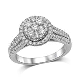 14K White Gold 9/10 Ct.Tw.Diamond Fashion Ring
