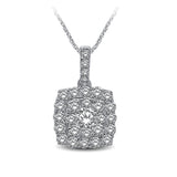 14K White Gold 1 Ctw Diamond Fashion Pendant