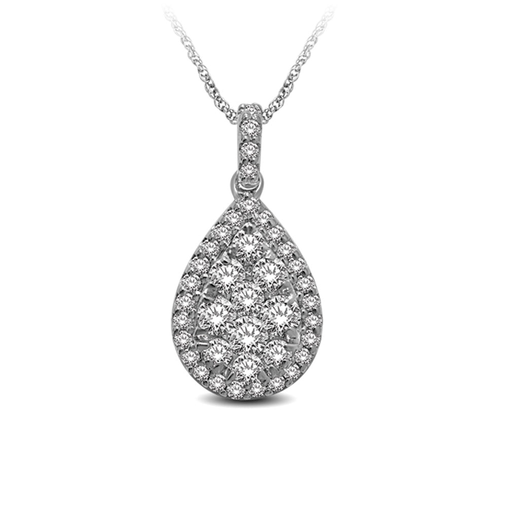 14K White Gold 5/8 Ctw Diamond Fashion Pendant