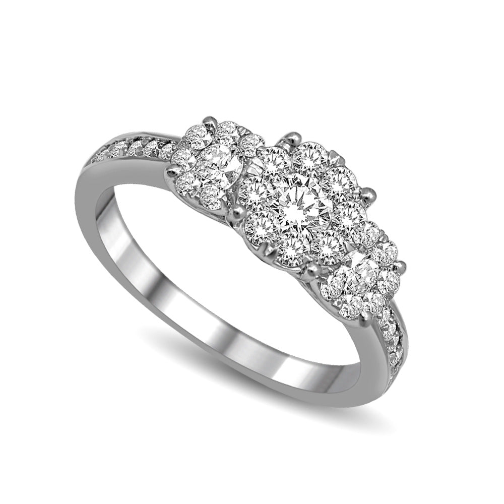 14K White Gold 1 Ct.Tw.Diamond Fashion Ring
