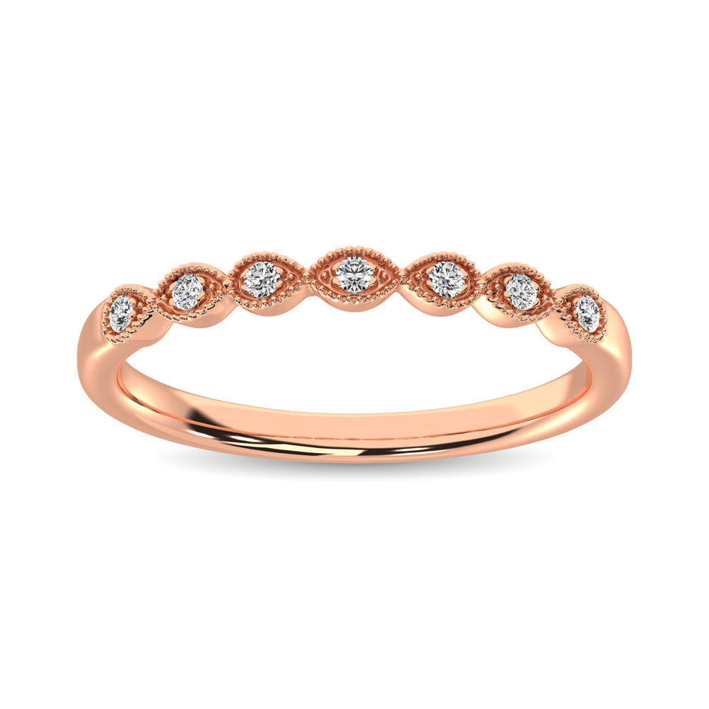 14K Rose Gold 1/20 Ct.Tw. Diamond Stackable Band