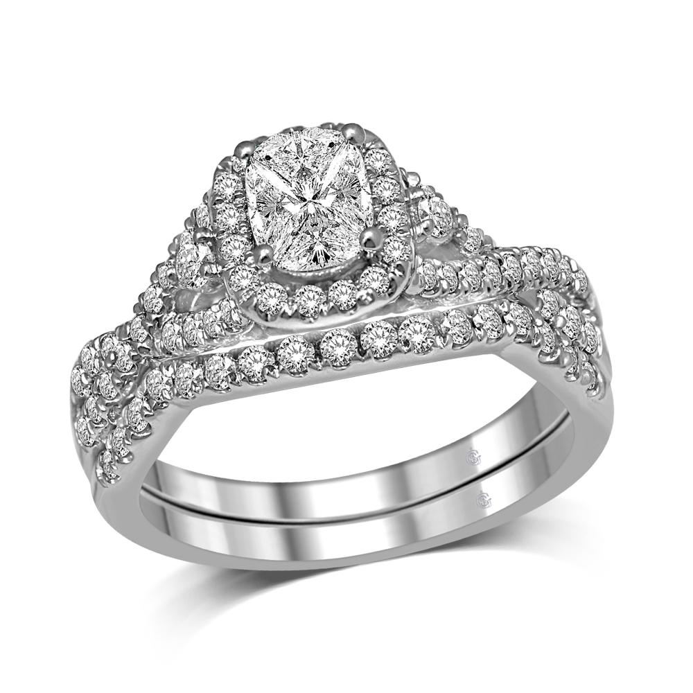Lovecuts 14K White Gold  1 Ct.Tw.Diamonds  Bridal Ring