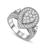 14K White Gold 1 1/2 Ctw Diamond Fashion Ring
