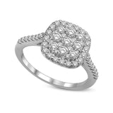 14K White Gold 5/8 Ctw Invisible Diamond Fashion Ring