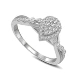 14K White Gold 1/4 Ct.Tw. Diamond Engagement Ring
