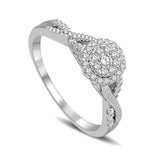 14K White Gold 1/3 Ct.Tw. Diamond Engagement Ring
