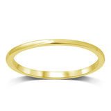14K Yellow Gold Plain Band