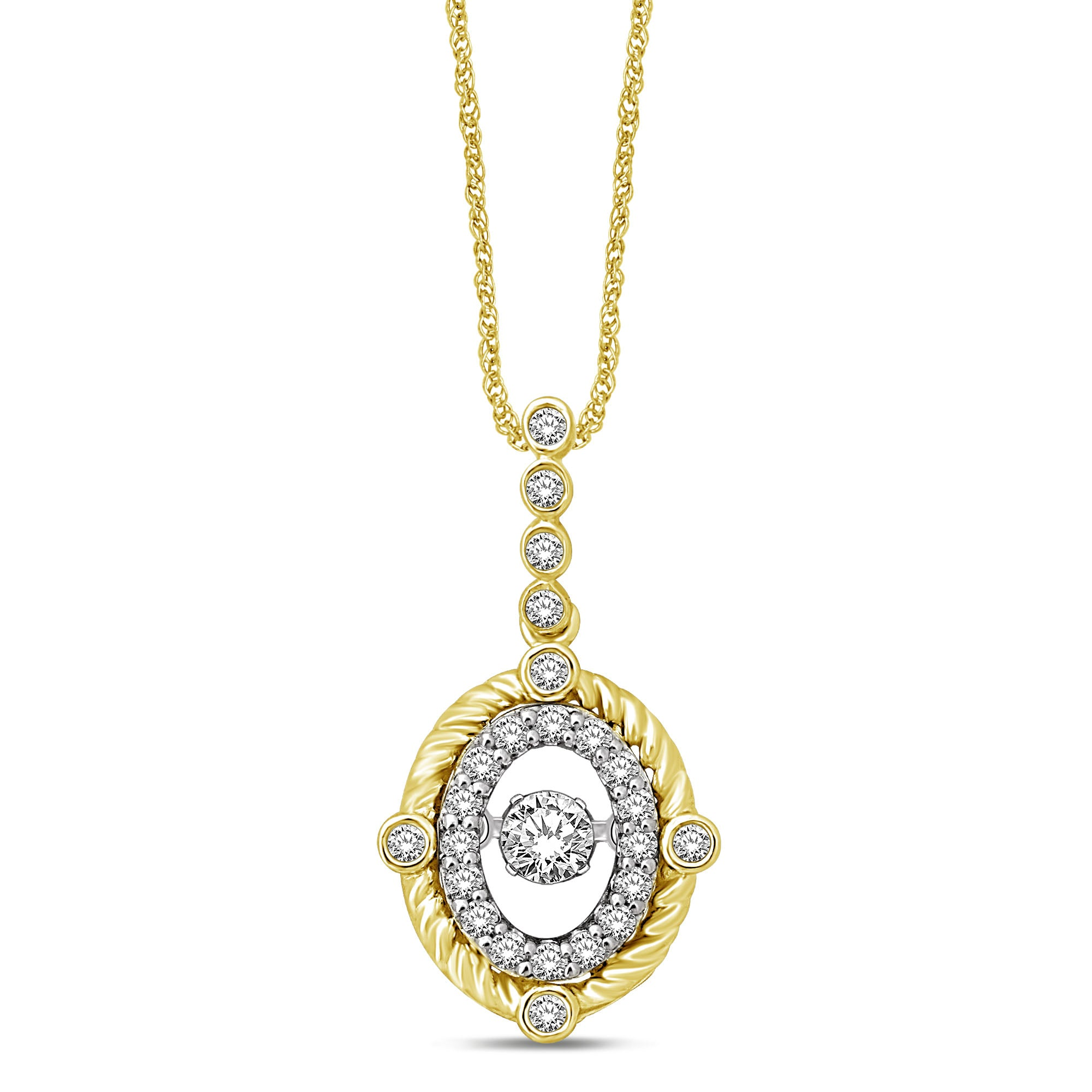 10K Yellow Gold 2/5 Ctw Diamond Fashion Pendant