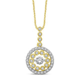 10K Yellow Gold 1/2 Ctw Diamond Fashion Pendant