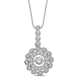 10K White Gold 2/5 Ctw Diamond Fashion Pendant