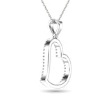 10K White Gold 1/6 Ctw Diamond Heart Pendant