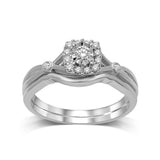 10K White Gold 1/5 Ctw Diamond Bridal Ring