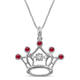 Sterling Silver 1/10 Ctw Diamond Crown Pendant