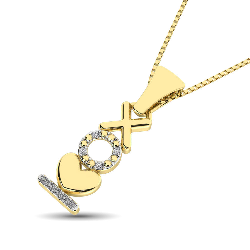 10K Yellow Gold Diamond Accent Fashion Pendant