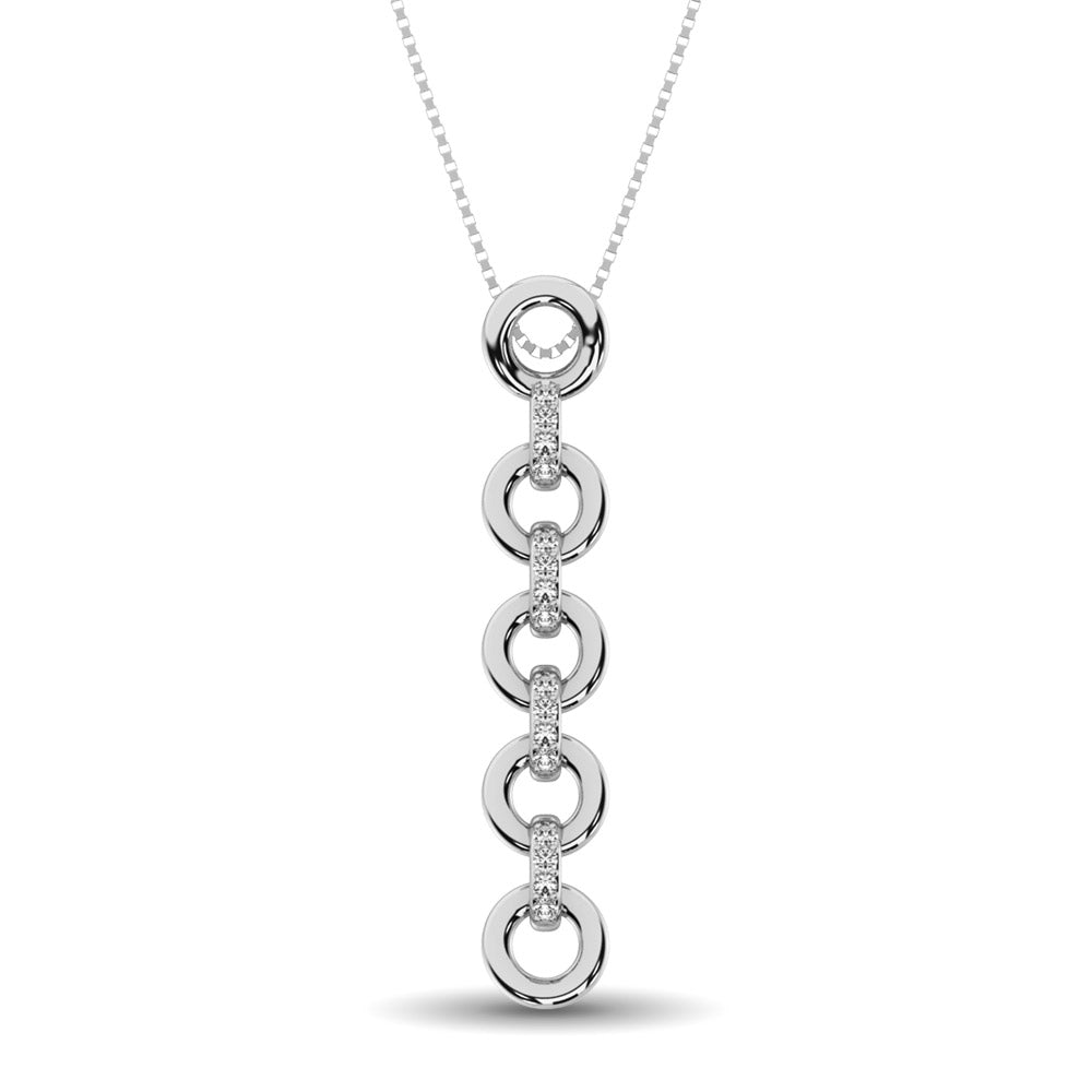 Sterling Silver Diamond Accent Fashion Pendant