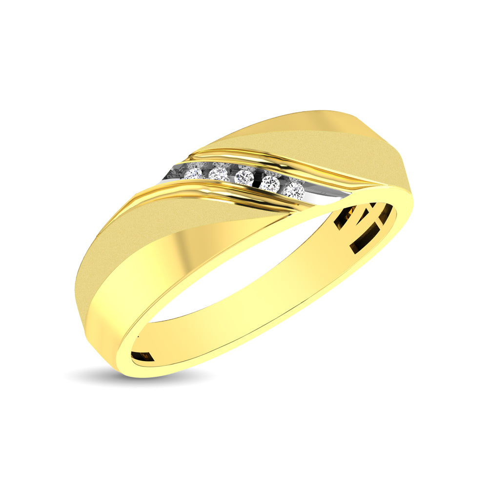 Men's 1/20 Ctw. Diamond Slant Ring in 10K Yellow Gold